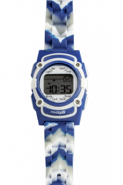 Rodger Vibrationsuhr Blue Camouflage