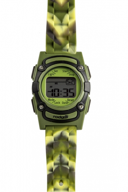 Rodger Vibrationsuhr Green Camouflage