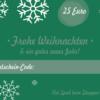 Weihnachtsgutschein 25 Euro