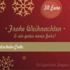 Weihnachtsgutschein 50 Euro