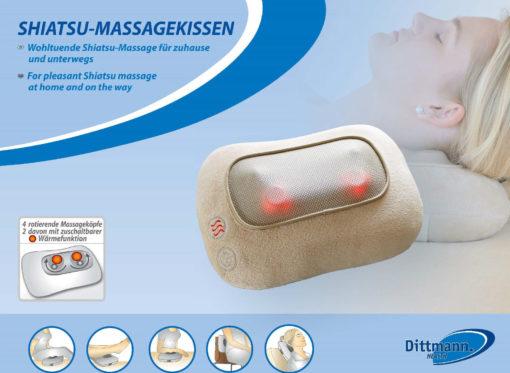 Dittmann Shiatsu-Massagekissen für Nacken/Rücken